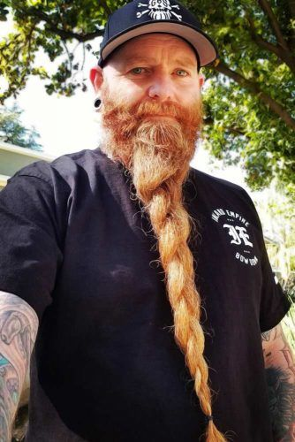 Long Loose Dutch Braid #beard #braids #braidedbeard