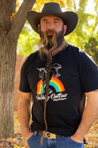 Long Braided Beard With Long Mustache #beard #braids #braidedbeard