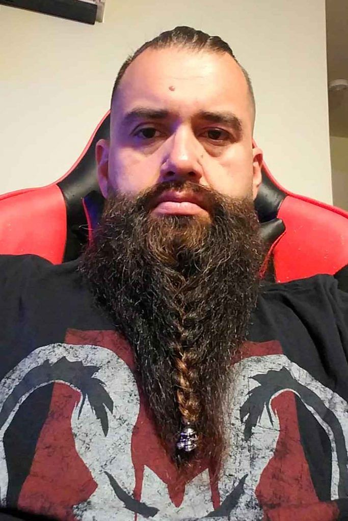 Beard Bun With Braid