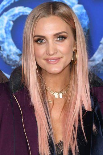 Ashlee Simpson Pink #hairtransformation #celebrityhairtransformation