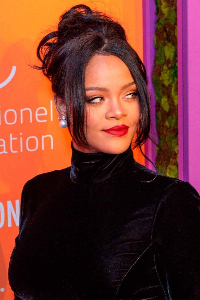 Rihanna Updo Hairstyles #rihana #easyhairstyles
