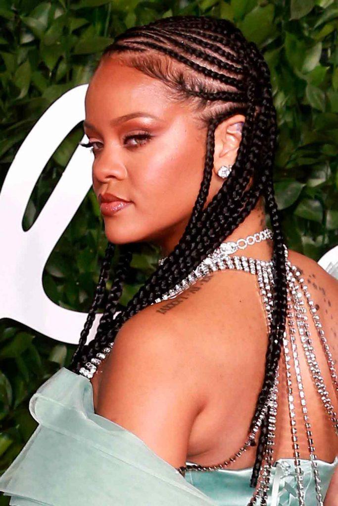 Rihanna Hairstyles #rihannahairstyles #braids