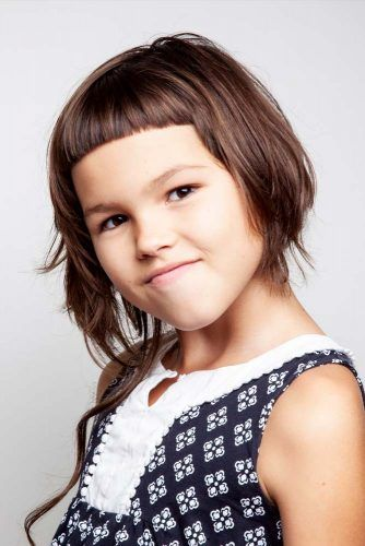 Edgy Little Girl Haircuts Asymmetrical Angled Bob #littlegirlhaircuts #haircuts