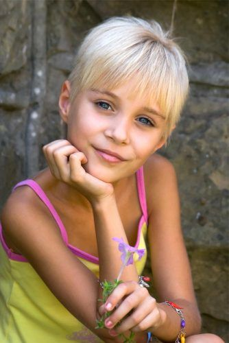 Short Little Girl Haircuts Pixie Haircut #littlegirlhaircuts #haircuts