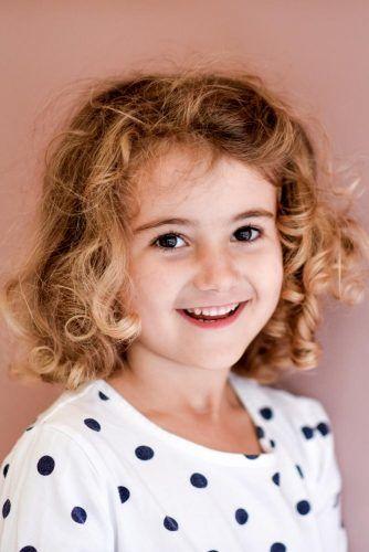 Curly Layered Bob #littlegirlhaircuts #haircuts