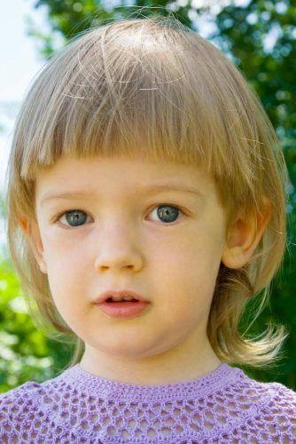 Medium Little Girl Haircuts With Flipped Ends #littlegirlhaircuts #haircuts