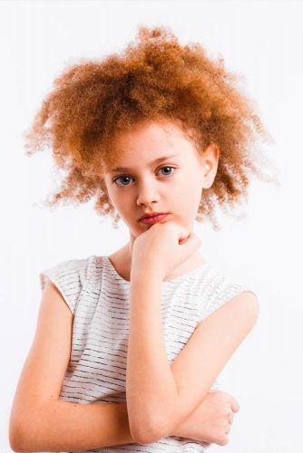 Layered Jewfro Culrs #littlegirlhaircuts #haircuts