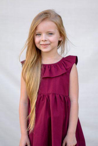 Side Parted Long Layered Little Girl Haircuts #littlegirlhaircuts #haircuts