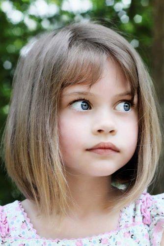 Medium Bob With Bangs #littlegirlhaircuts #haircuts
