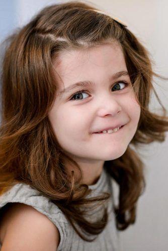 Side Parted Shaggy Lob #littlegirlhaircuts #haircuts