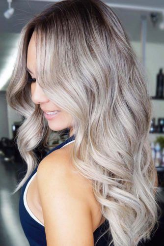 Ash Blonde With Shadow Roots #shadowroots