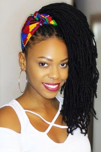 Updo Style With Headband #sisterlocks #braids