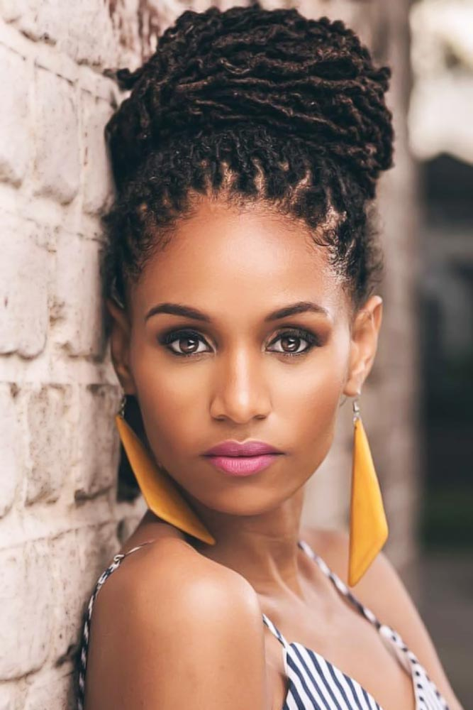 High Bun Sisterlocks #sisterlocks #braids