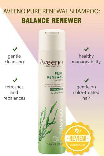 Aveeno Pure Renewal Shampoo: Balance Renewer #shampoo #sulfatefreeshampoo