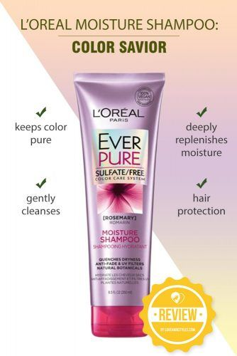 L'Oreal Moisture Shampoo: Color Savior #shampoo #sulfatefreeshampoo