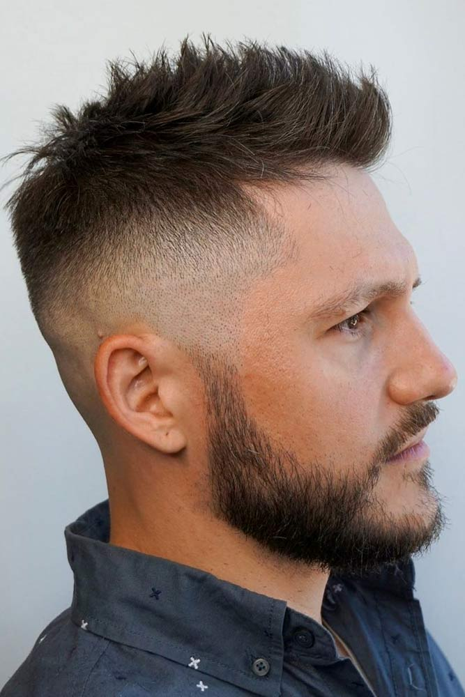Spiky Faded Haircut #fadehaircut #haircuts