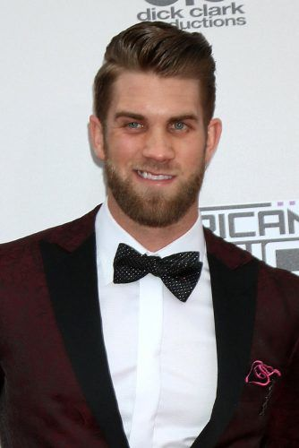Side Part Hairstyle And Beard #bryceharperhair #haircuts #hairstyles