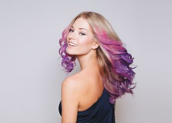 A Fresh Twist on Your Purple Ombre Hair