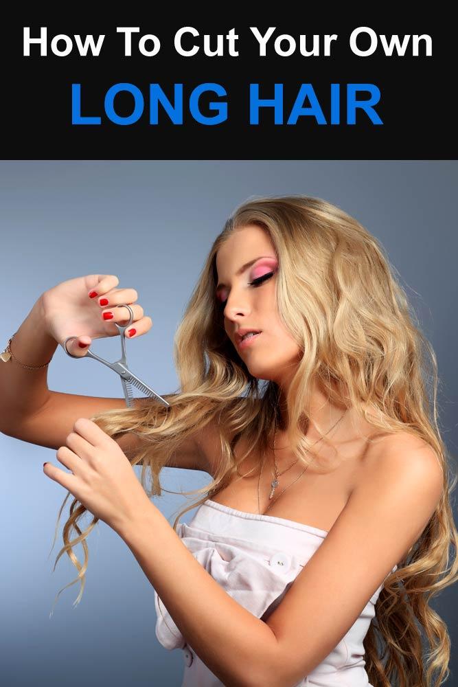 Layering Long Hair #howtocutyourownhair
