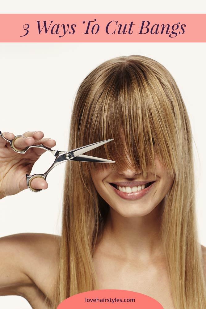 3 Ways To Cut Bangs #howtocutyourownhair