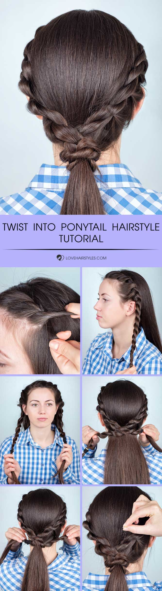 Twist Into Ponytail Hairstyle #braids #hairtutorial