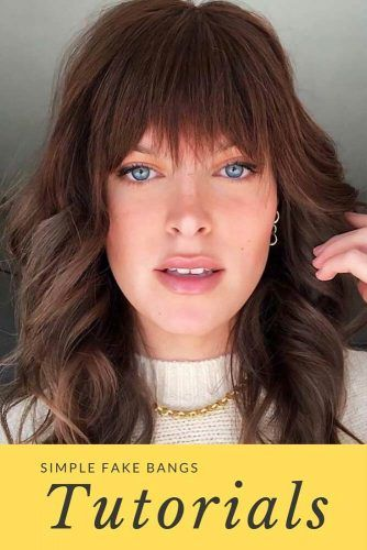 Clip-In Bangs Method #fakebangs #bangs