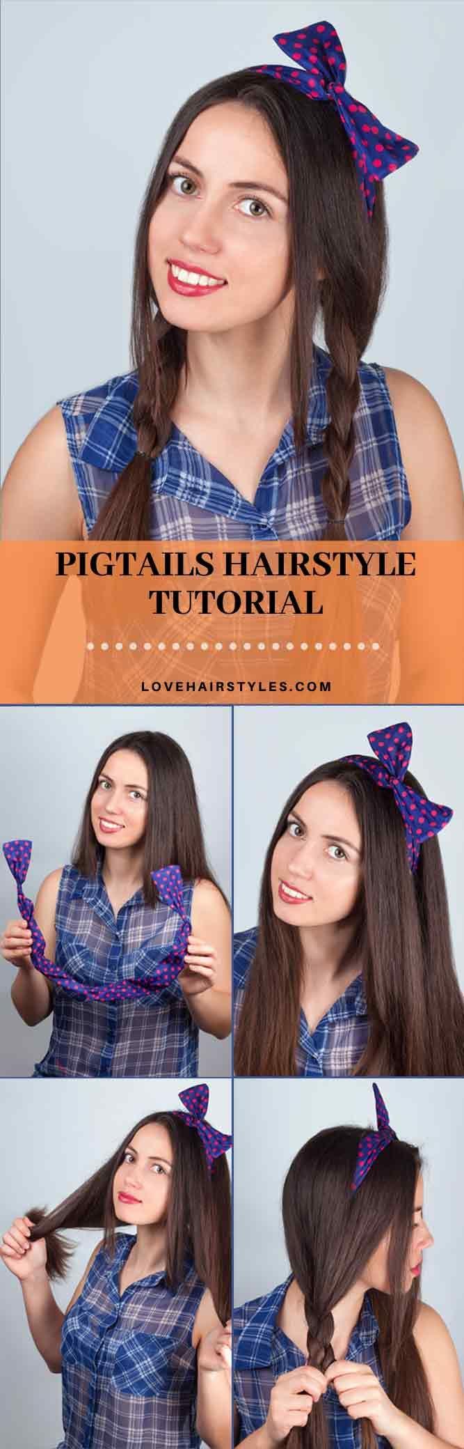 How do you make cute pigtails?