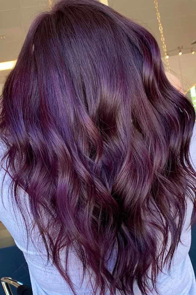 Classic Plum Hair Color #plumhaircolor #plumhair