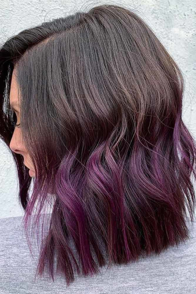 Brown To Plum Ombre #plumhaircolor #plumhair