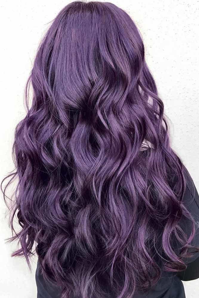 Purple Plum Hair Color #plumhaircolor #plumhair