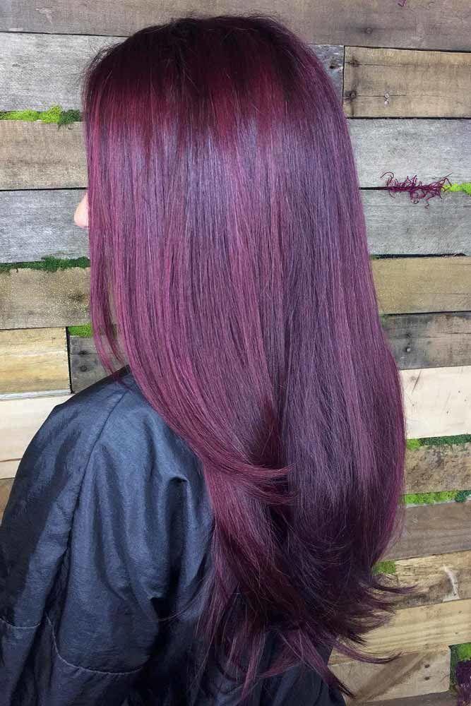 Plum Wine Hair Color #plumhaircolor #plumhair