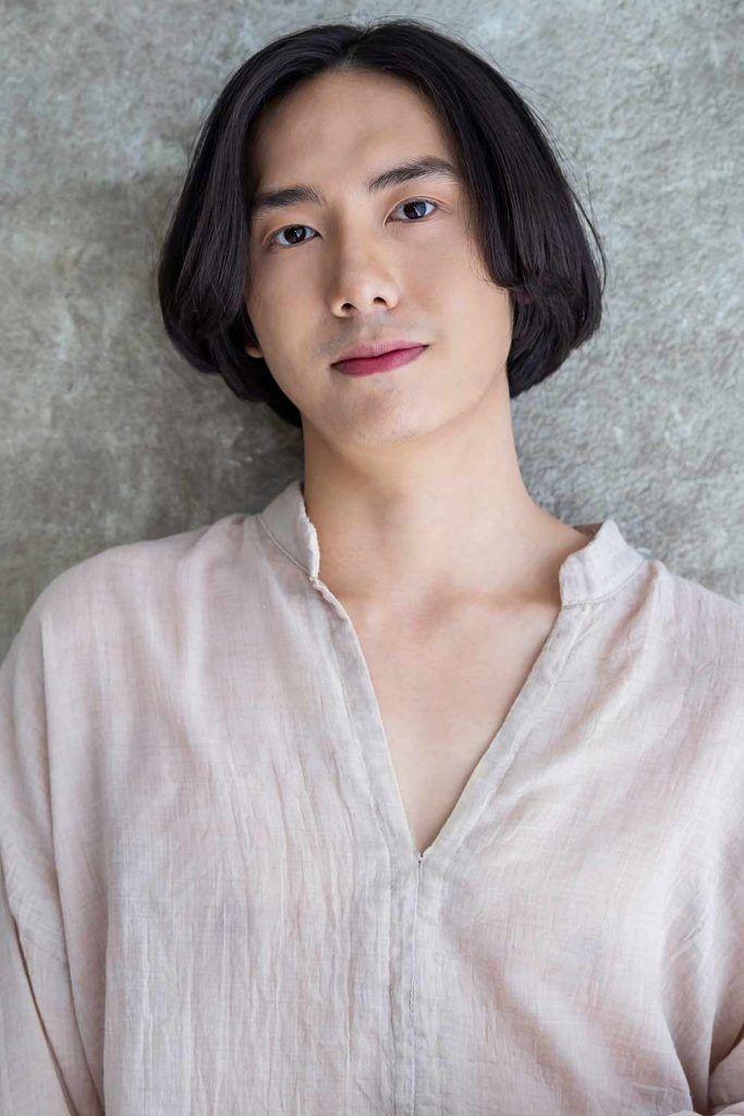 Center Parted Chin Length #koreanmen #koreanhaircuts #koreanhairstyles