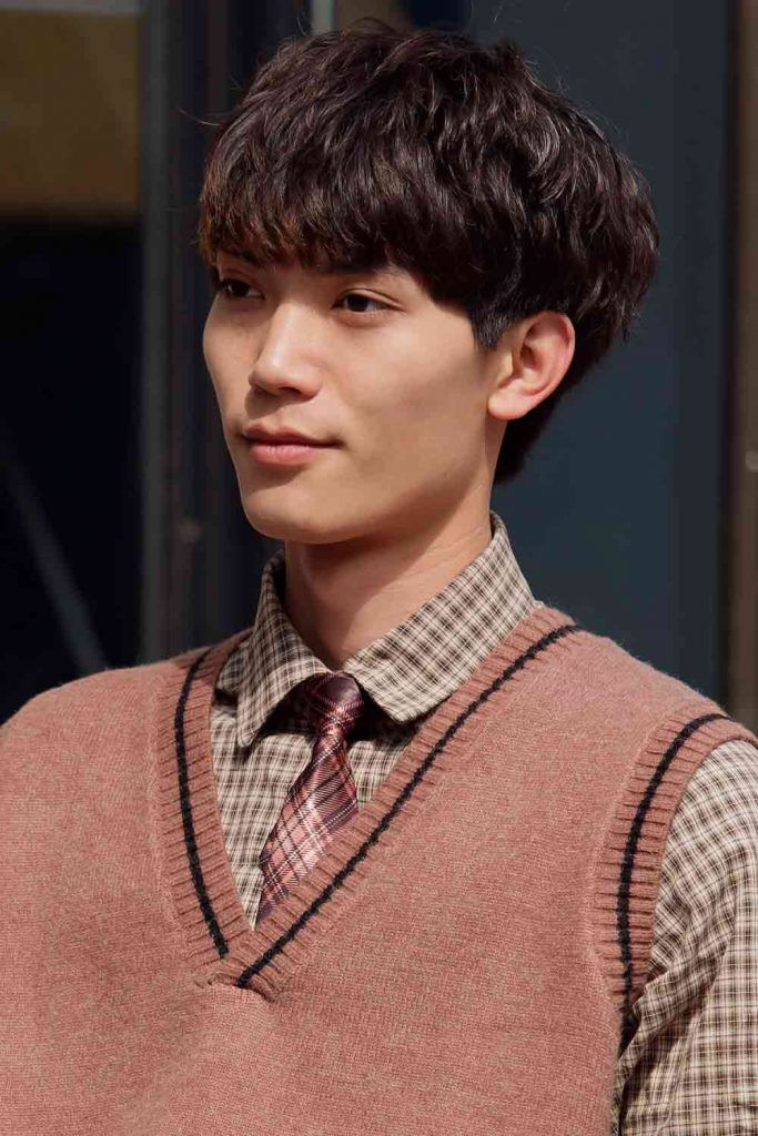 The Messy Korean Men Haircut #koreanmen #koreanhaircuts #koreanhairstyles