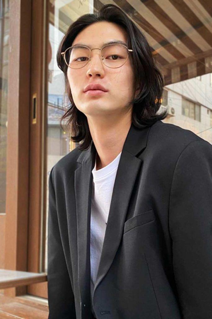 The Shoulder Length Haircut #koreanmen #koreanhaircuts #koreanhairstyles