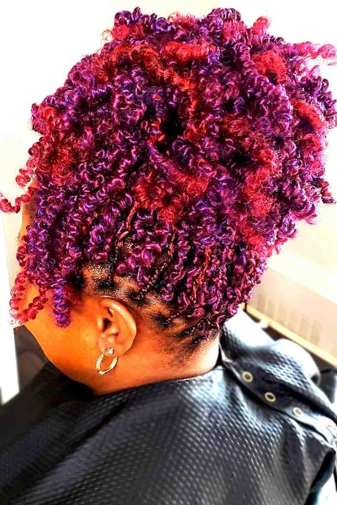 Lovely spiral multicolor african hairstyle