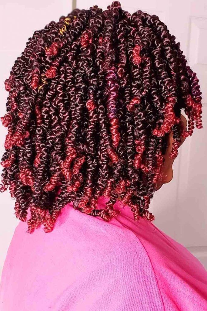 Awesome red ombre wavy hair