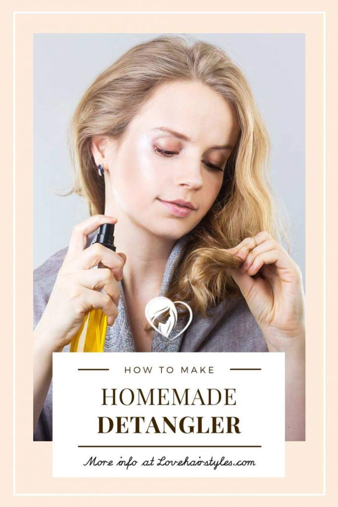How Do You Make A Homemade Detangler? #matted hair #howtodetanglemattedhair #tangledhair