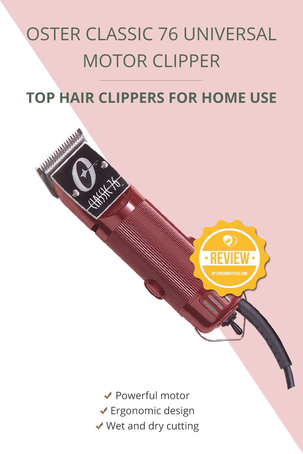 OSTER Classic 76 Universal Motor Clipper