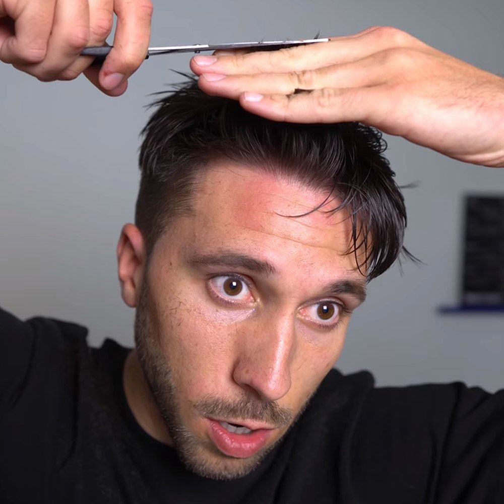 Trim Your Bangs #howtocutmen #menshaircuts #howtocutyourselfmen
