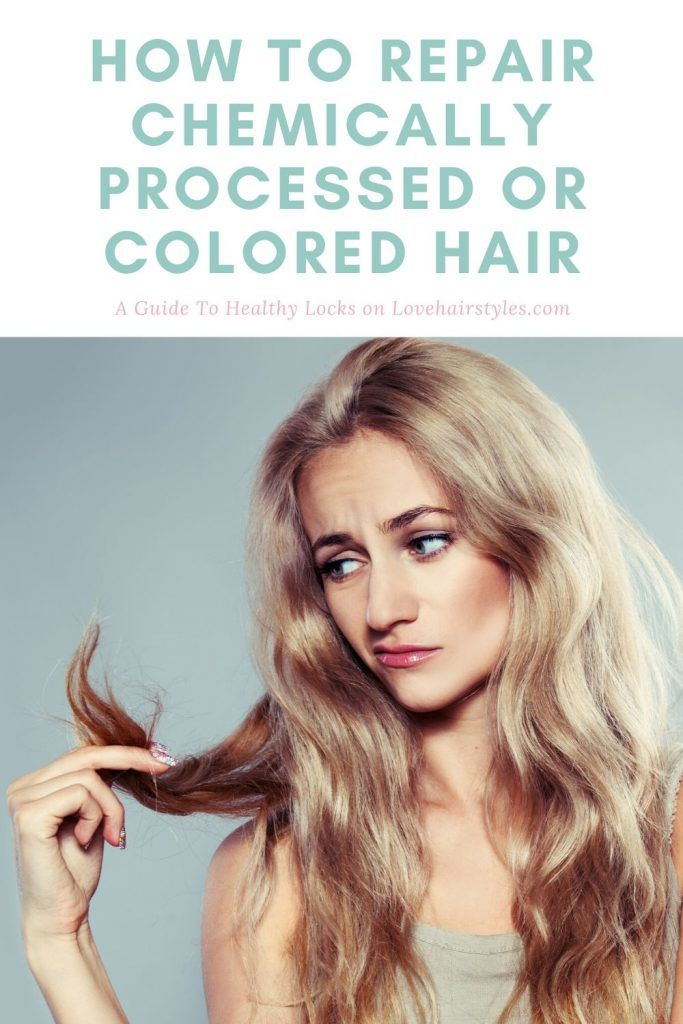How To Repair Chemically Processed Or Colored Hair #damagedhair #hairtreatment