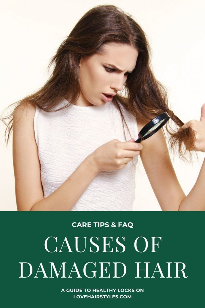 What Causes Damaged Hair #damagedhair #hairtreatment