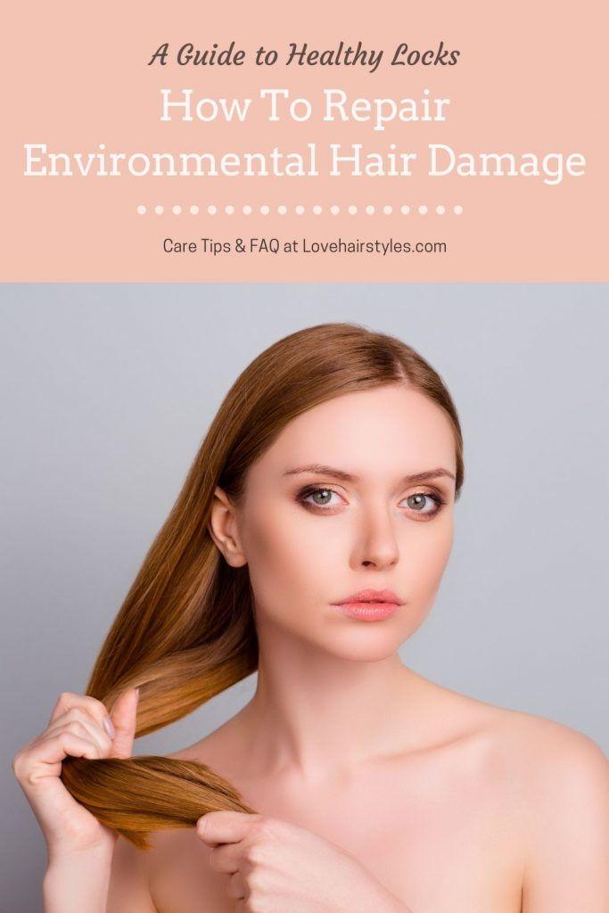 How To Repair Environmental Hair Damage #damagedhair #hairtreatment