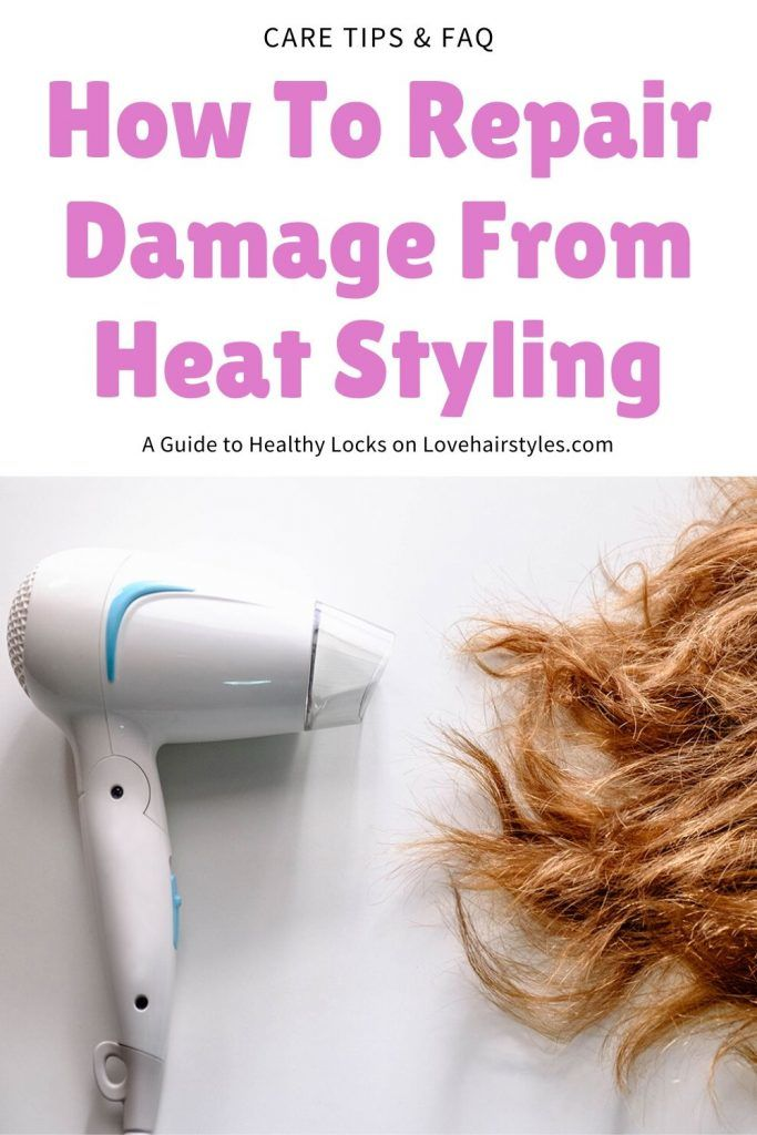 How To Repair Damage From Heat Styling #damagedhair #hairtreatment