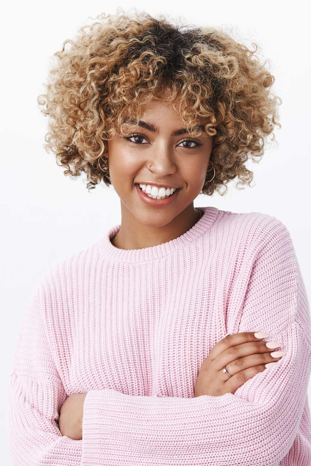Ombre Bob Look For Curly Natural Hair