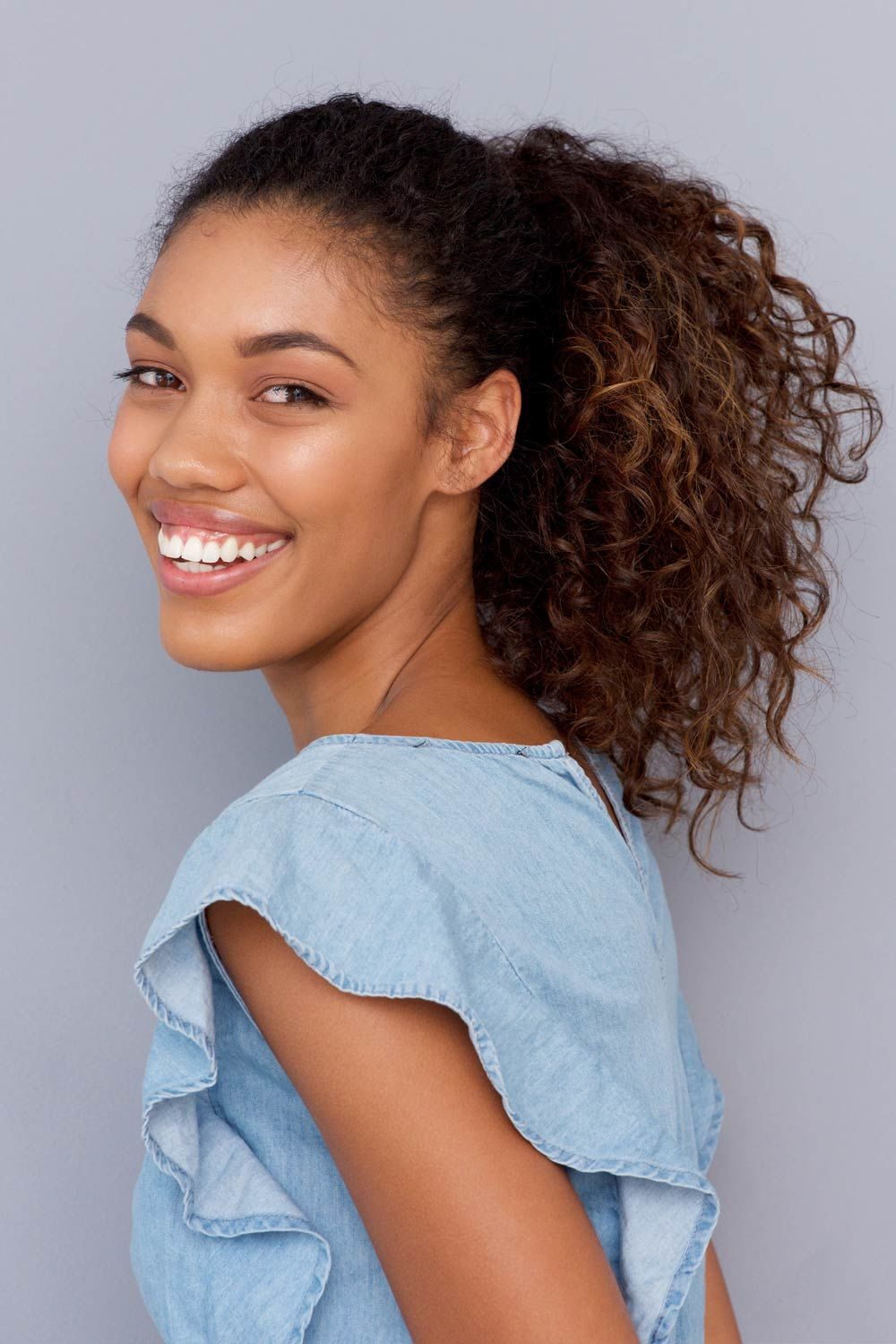 Ponytail For Curly Natural Hair