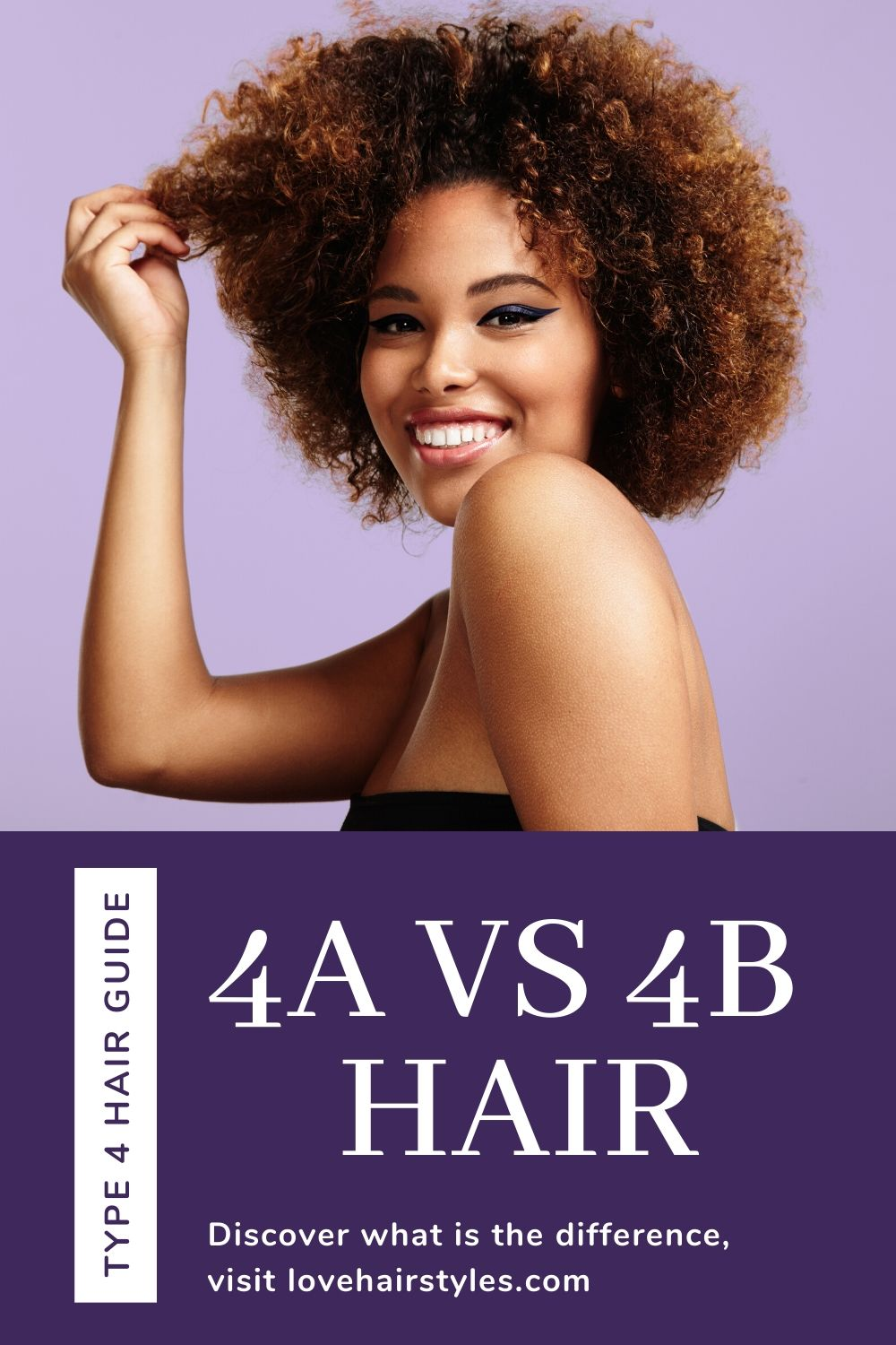 What is the difference between 4a and 4b hair?