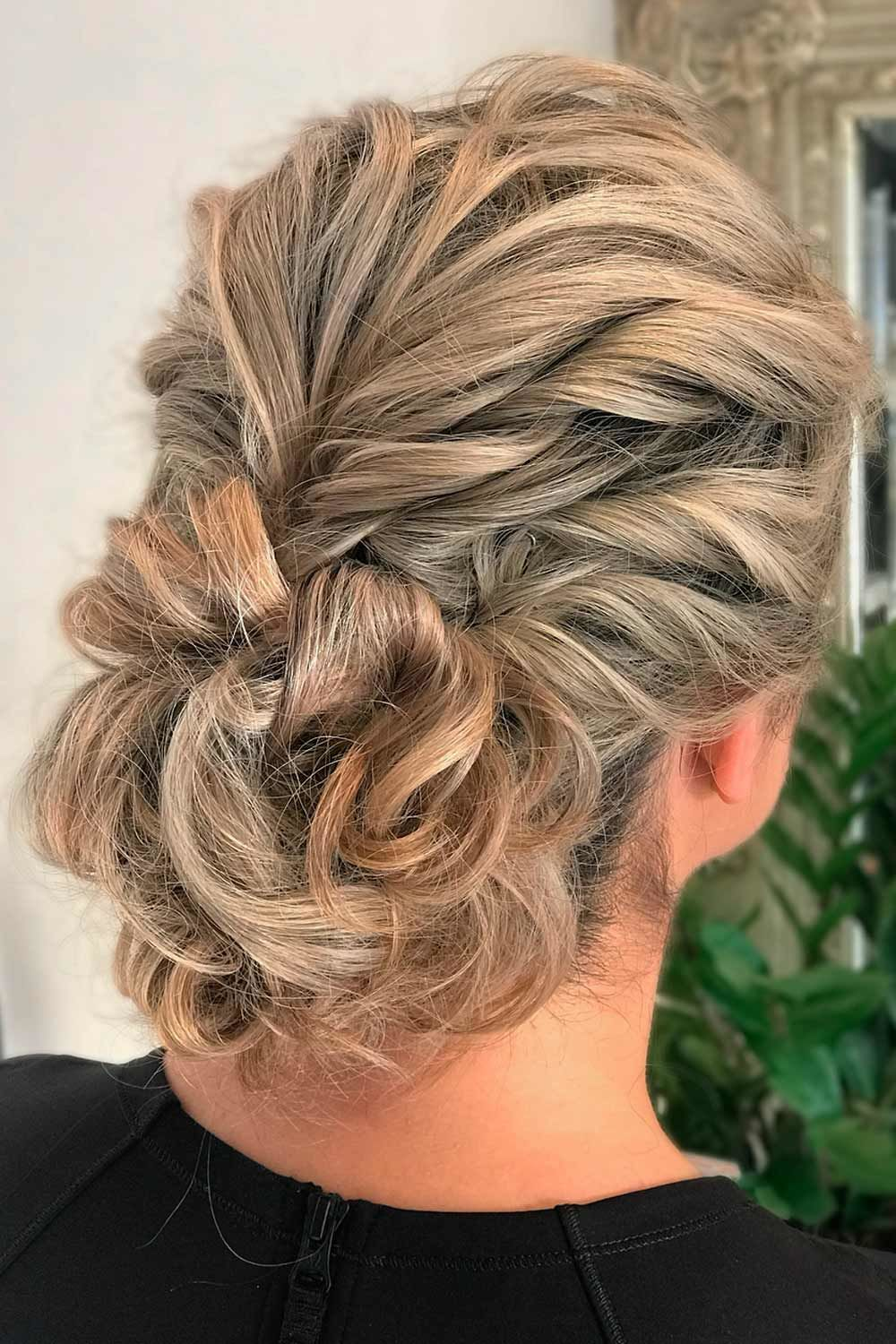 Curly Updo With Long Fringe