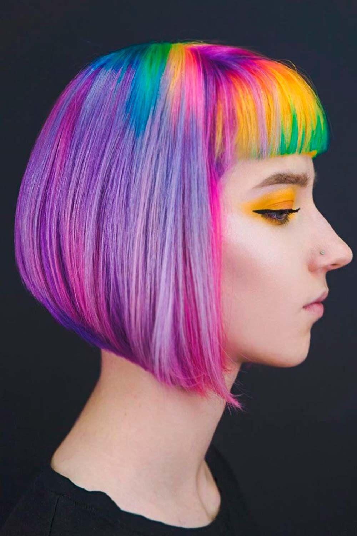 Rainbow Under Neon Pink