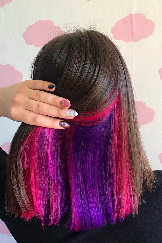 Bright Purple and Pink Peekaboo