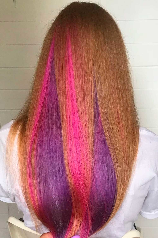 Purple and Pink Peekaboo